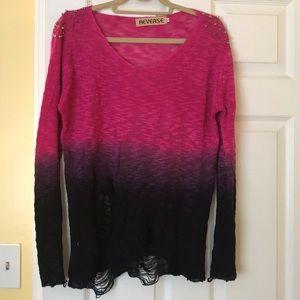 Reverse Dip Dye Sweater